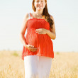 Stock Photo: Portrait of pregnant woman
