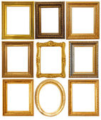 Luxury gilded frames — Stock Photo