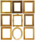 Luxusní zlacené rámy — Stock fotografie