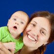 Happy  mother with her little baby — Stock Photo