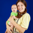 Happy mother with her little daughte — Stock Photo
