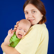 Mother with whining daughter — Stock Photo #6040412