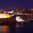 Vittoriosa in night. Malta — Stock Photo