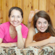 Happy mother with teenager daughter — Stock Photo #6042052