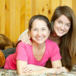 Appy mother her teenager daughter — Stock Photo