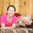 Happy mother with teenager daughter — Stock Photo #6042082
