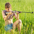Royalty-Free Stock Photo: Aiming girl