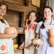 Stock Photo: Women in rural interior