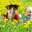 Happy mother and baby — Stock Photo
