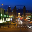 Barcelona in night — Stock Photo