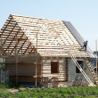 Building  wooden house — Stock Photo