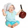 Baby cook over white — Stock Photo #6044718