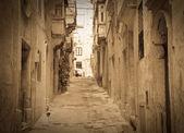 如诗如画老街的复古照片 — 图库照片