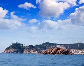 Rocky coastline in Tossa de Mar — Stock Photo