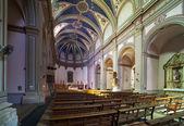 Interior of catholic church at Tossa de Mar — Stock Photo