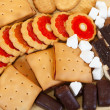 Various cookies and   candy — Stock Photo