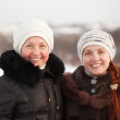 Happy women in winter — Stock Photo