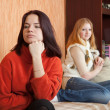 Sad girls having quarrel — Stock Photo