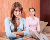 Teen daughter and mother having quarre — Stock Photo