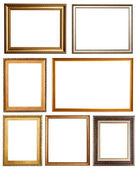 Set of 7 picture frames. — 图库照片