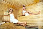 Women taking steam — Stock Photo