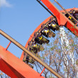 Red roller coaster at Port Aventura park, Spain — Stock Photo #6068088