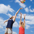 Girls playing volleyball — Stock Photo #6068096