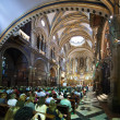 Interior of Santa Maria de Montserrat church — Stock Photo