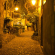 Night street of old european town. — Stock Photo
