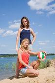 Sporty girls — Stock Photo