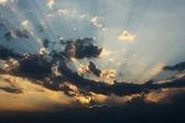 Cloudy sky, sunrise — Stock Photo