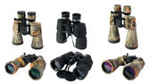 Binoculars on the white background — Stock Photo