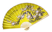 Yellow Chinese fan — Stock Photo