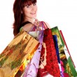 Beautiful happy woman with shopping bags — Stock Photo #5794151