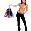 Beautiful happy woman with shopping bags — Stock Photo #5881896