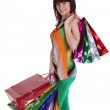Beautiful happy woman with shopping bags — Stock Photo #5881899