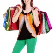 Beautiful happy woman with shopping bags — Stock Photo #5929139