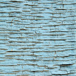 Texture of the old blue paint on wood - Stock Photo