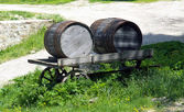 Wooden cask — Stock Photo