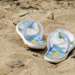 Beachfront shoes — Stock Photo