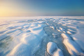 Ice and horizon — Stock Photo