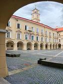 Vilnius university Big courtyard — Stock Photo