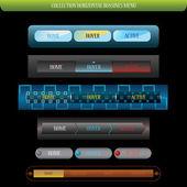 Web элемент bussines горизонтальное меню — Cтоковый вектор