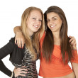 Portrait of two beautiful girls — Stock Photo