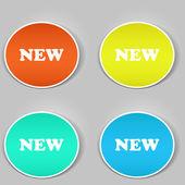 новые этикетки. вектор — Cтоковый вектор