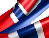 挪威国旗的 — 图库照片