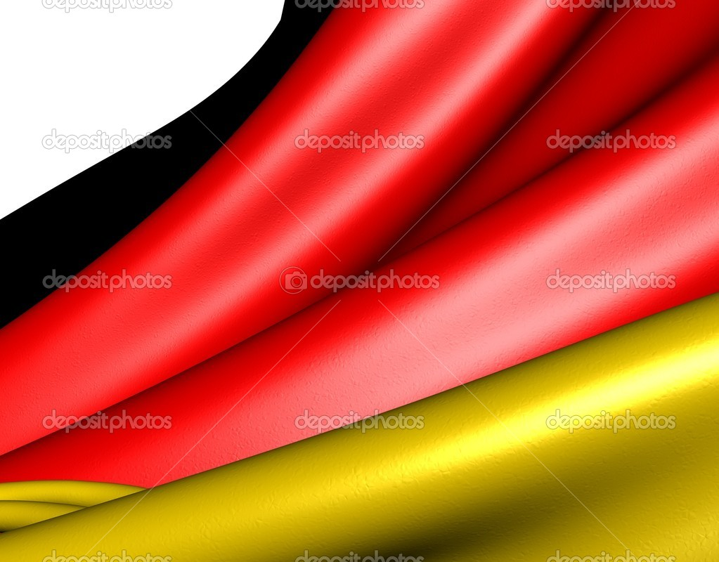 Flag of Germany against white background. Close up.  — Stock Photo #5446226