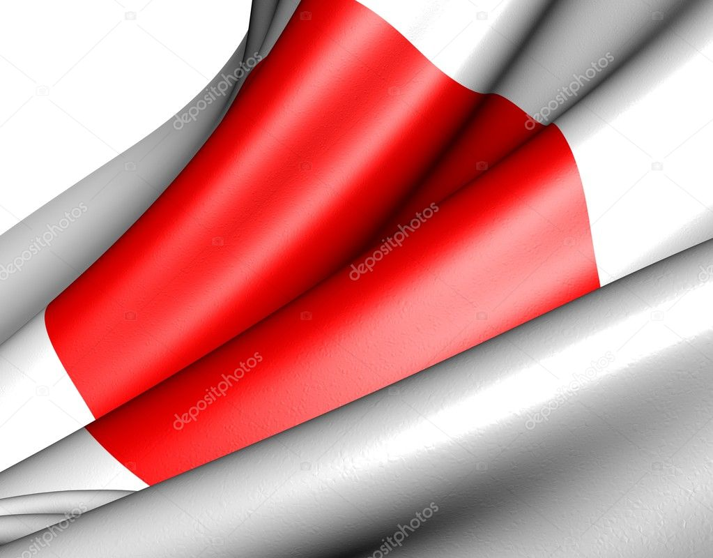 Flag of Japan against white background. Close up.  — Stock Photo #5446278