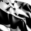 Flag of Bretagne — Stock Photo