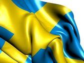 Flaga szwecji — Zdjęcie stockowe